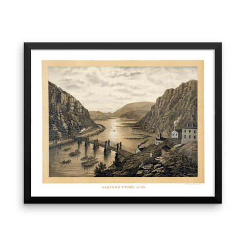 Harpers Ferry, West Virginia 1800's Framed