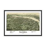 California, PA 1902 Framed