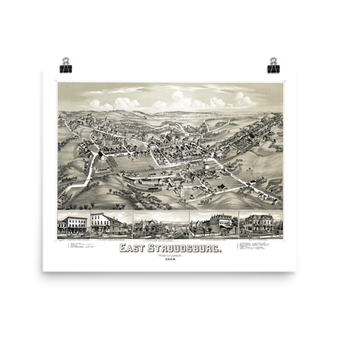 East Stroudsburg, PA 1884 Map