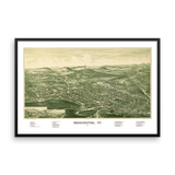 Bennington, VT 1887 Framed