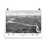 Watertown, WI 1885 Map