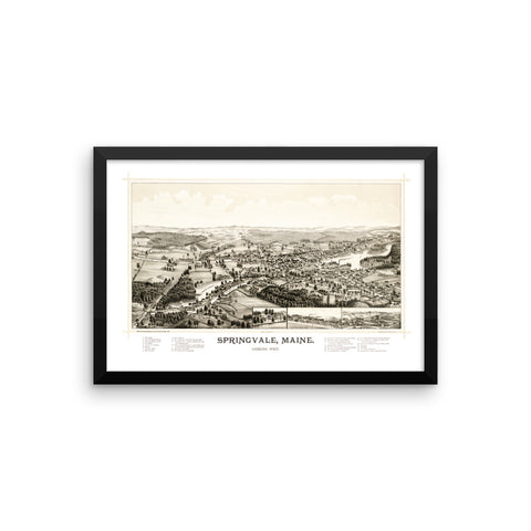 Springvale, Maine 1888 Framed