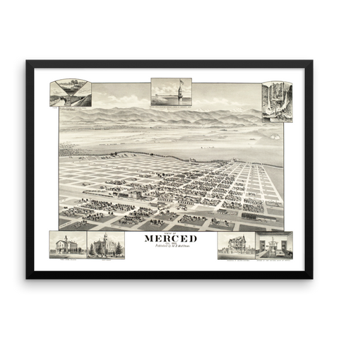 Merced, California 1888 Framed