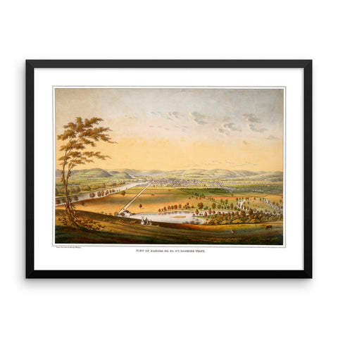 Elmira, New York 1840 Framed