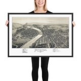 Pittston, PA 1892 Framed