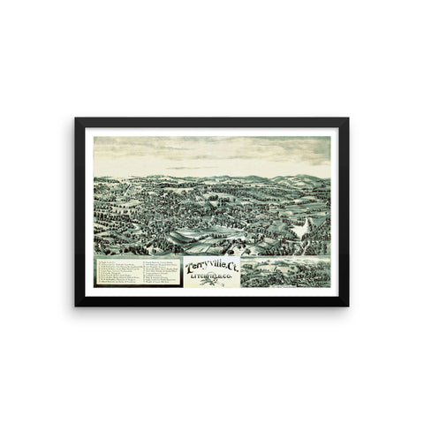 Terryville, CT 1894 Framed