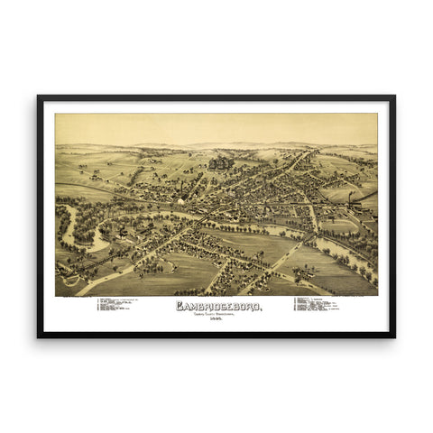 Cambridgeboro, PA 1895 Framed