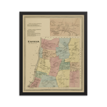 Enfield, CT 1869 Framed