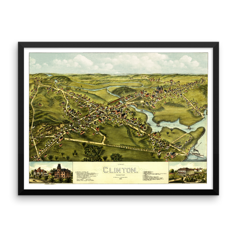 Clinton, CT 1881 Framed