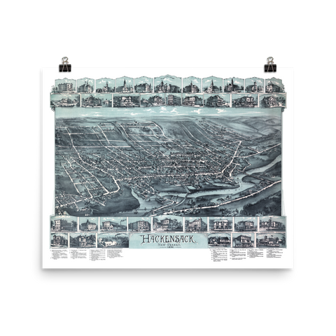 Hackensack, NJ 1896 Map