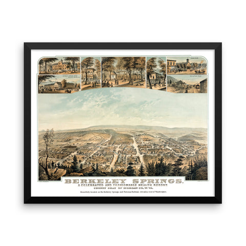 Berkeley Springs, West Virginia 1889 Framed