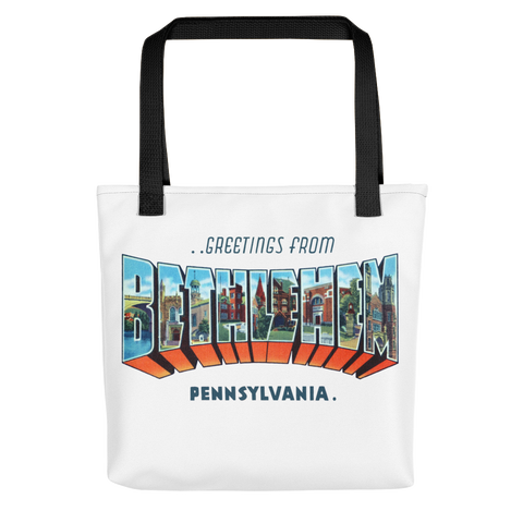 Greetings from Bethlehem, PA Tote bag