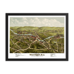 Westerly, RI 1877 Framed Map