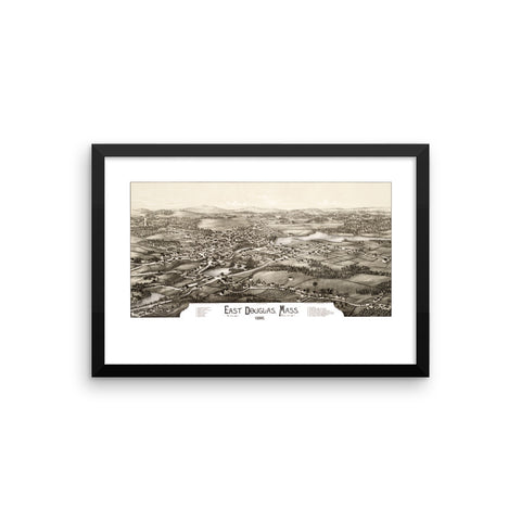 East Douglas, Mass, 1886, Framed Print