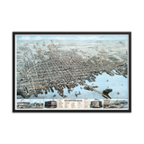 New Bedford, Mass 1876 Framed