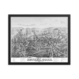 Bethel, CT 1879 Framed