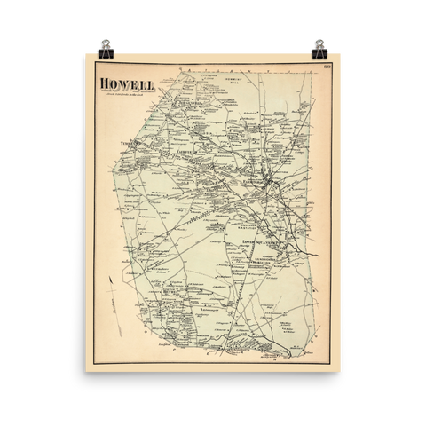 Howell, NJ 1873 Map