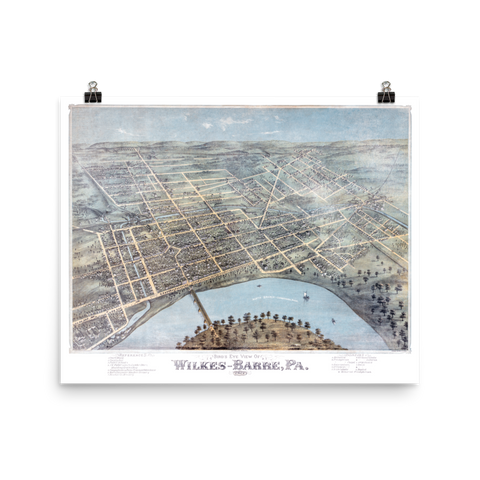 Wilkes-Barre, PA 1885 Map