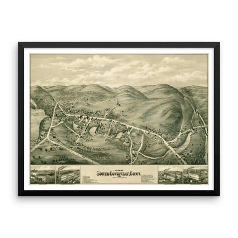 South Coventry, CT 1878 Framed