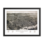 Knoxville, TN 1886 Framed
