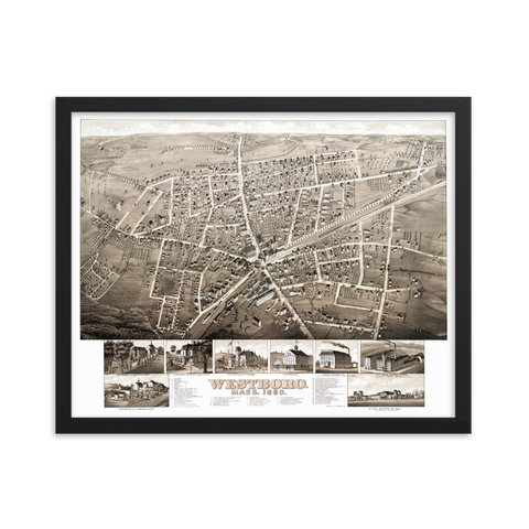 Westborough, MA 1880 Framed