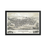 Mifflinburg, PA 1884 Framed