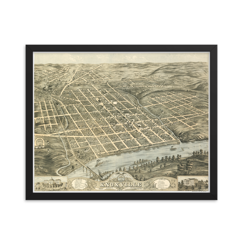 Knoxville, TN 1871 Framed