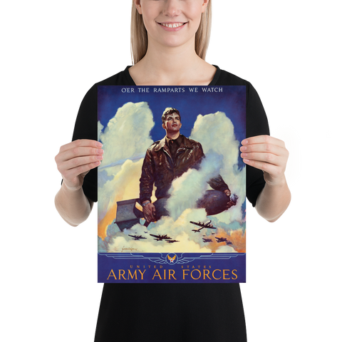 Vintage Air Force Recruitment Poster, 1945