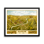 Naugatuck, CT 1877 Framed