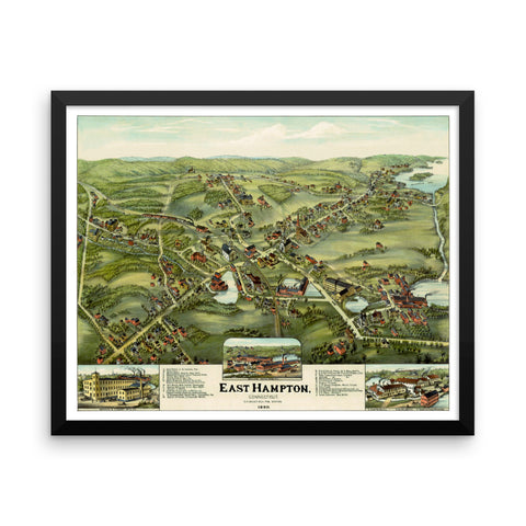 East Hampton, CT 1880 Framed