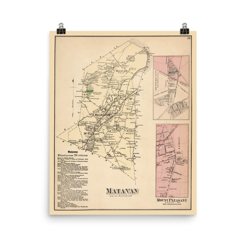 Matavan, NJ 1873 Map