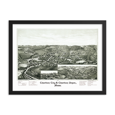 Charlton, MA 1887 Framed