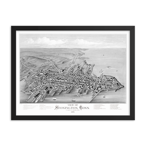 Stonington, CT 1873 Framed