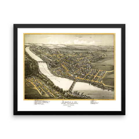 Apollo, PA 1896 Framed