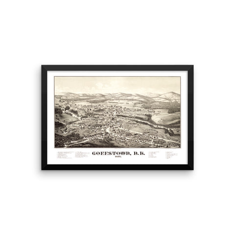Goffstown, NH 1887 Framed