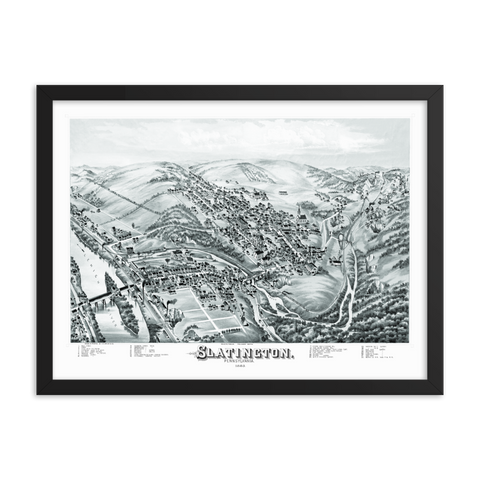 Slatington PA 1883 Framed