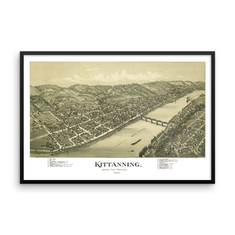 Kittanning, PA 1896 Framed