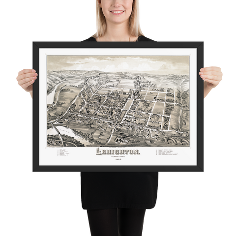 Lehighton, PA 1883 Framed