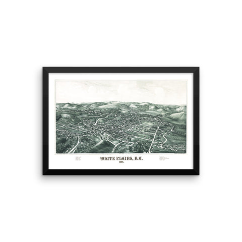 White Plains, NY 1887 Framed