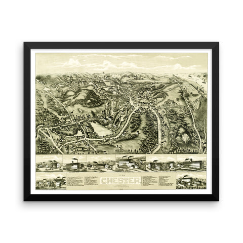 Chester, Connecticut 1881 Framed