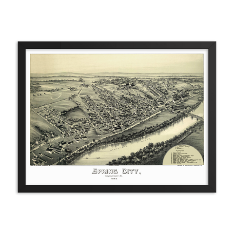 Spring City PA 1893 Framed