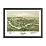 Philippi, WV 1897 Framed