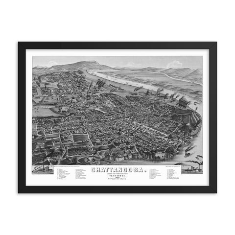 Chattanooga, TN 1886 Framed
