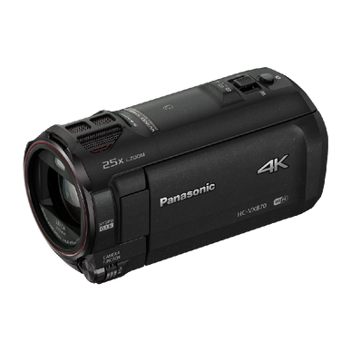 Panasonic HC VX870 4K Ultra HD Camcorder with Wireless Smartphone Twin Video Capture