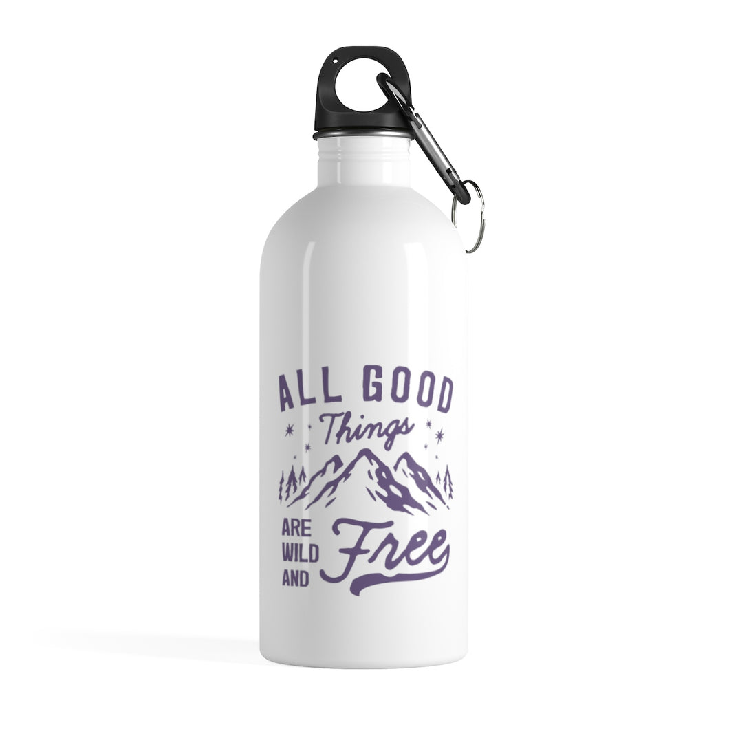 Wild And Free Water Bottle - Navy