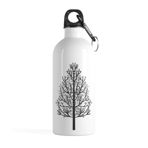 Winter Pine Tree Water Bottle