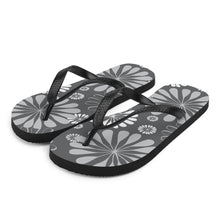 Black Blossoms Flip-Flops