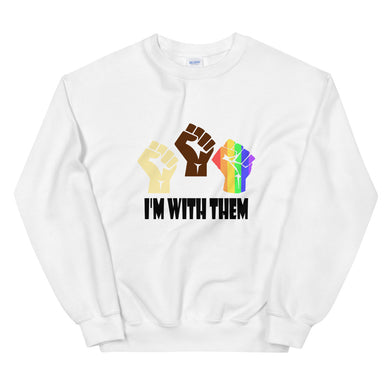 I'm With Them Custom Unisex Sweatshirt