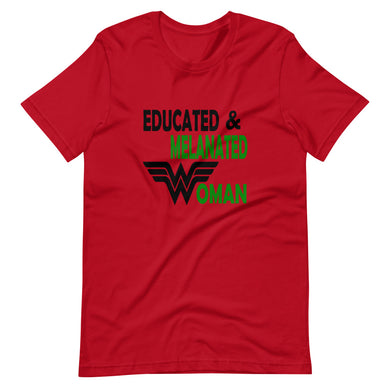 Educated & Melanated Short-Sleeve T-Shirt