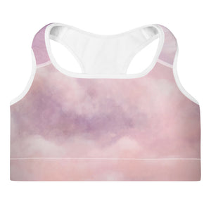 Purple Space Padded Sports Bra